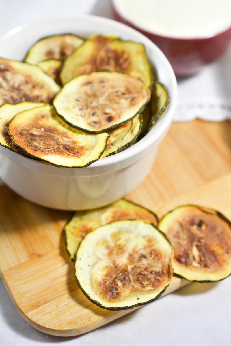 Keto Salt and Vinegar Zucchini Chips