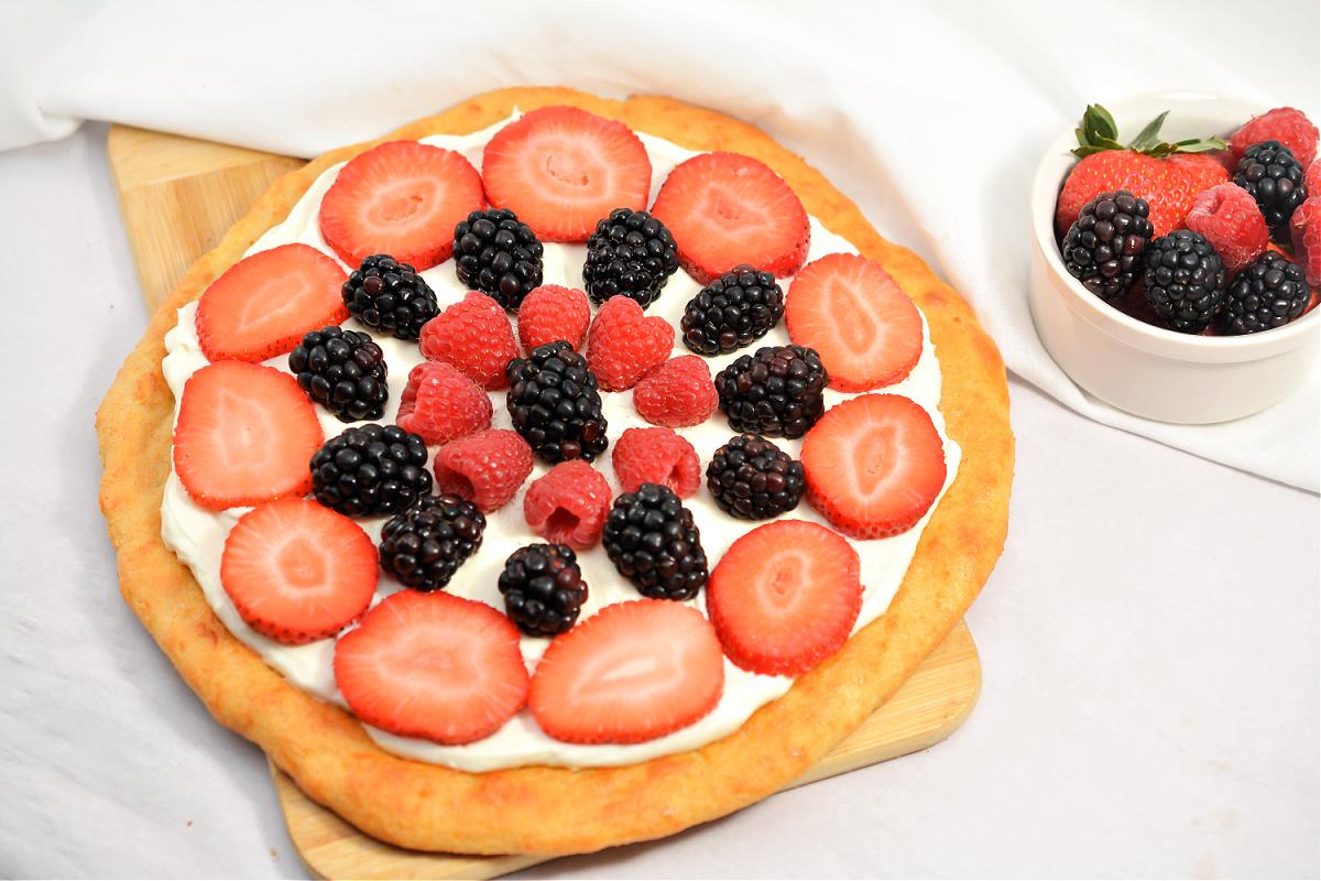 Easy Keto Fruit Pizza
