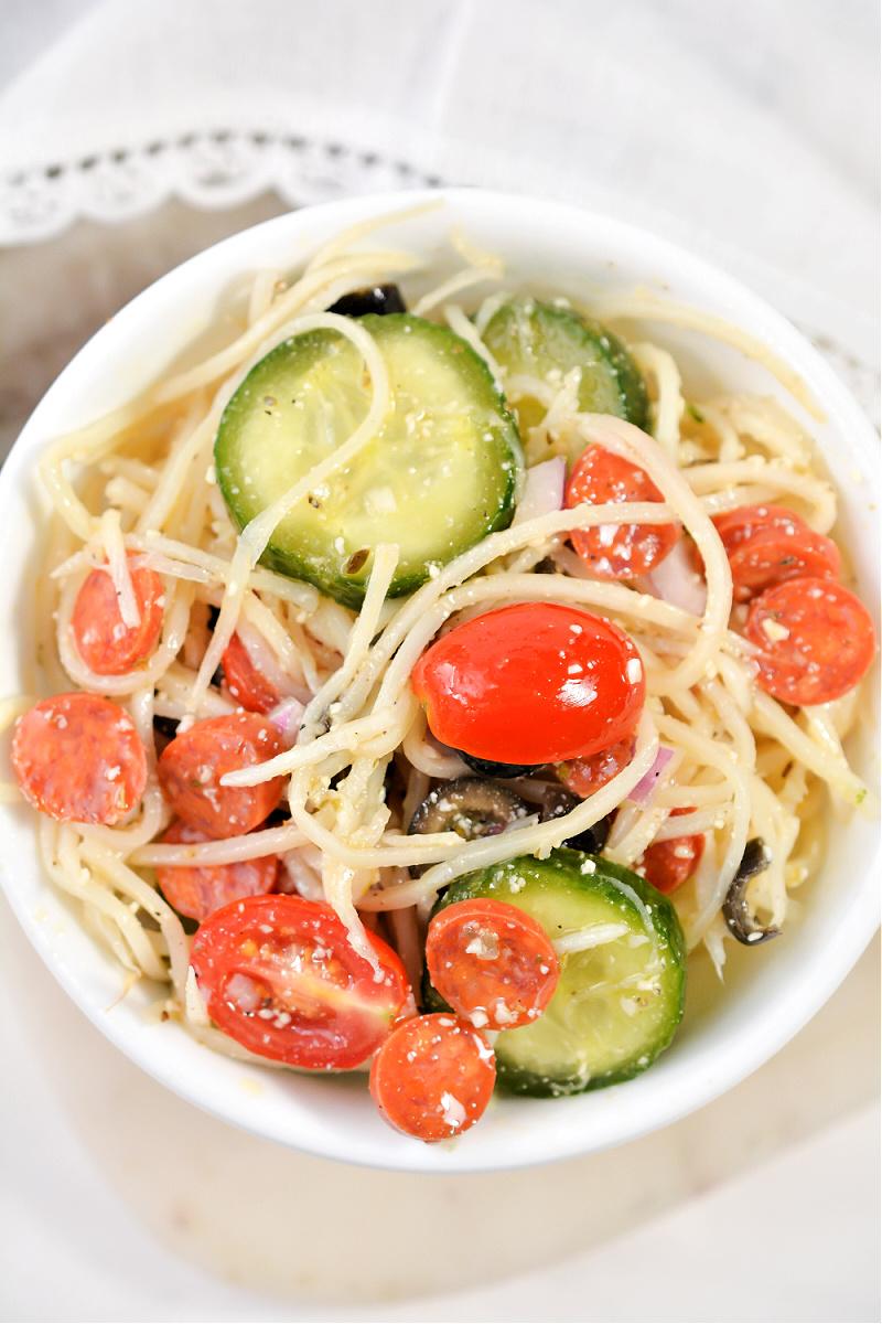 Keto Spaghetti Salad