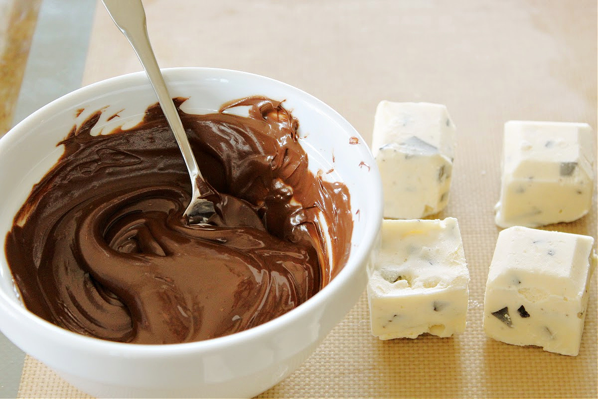 Keto Ice Cream Bites