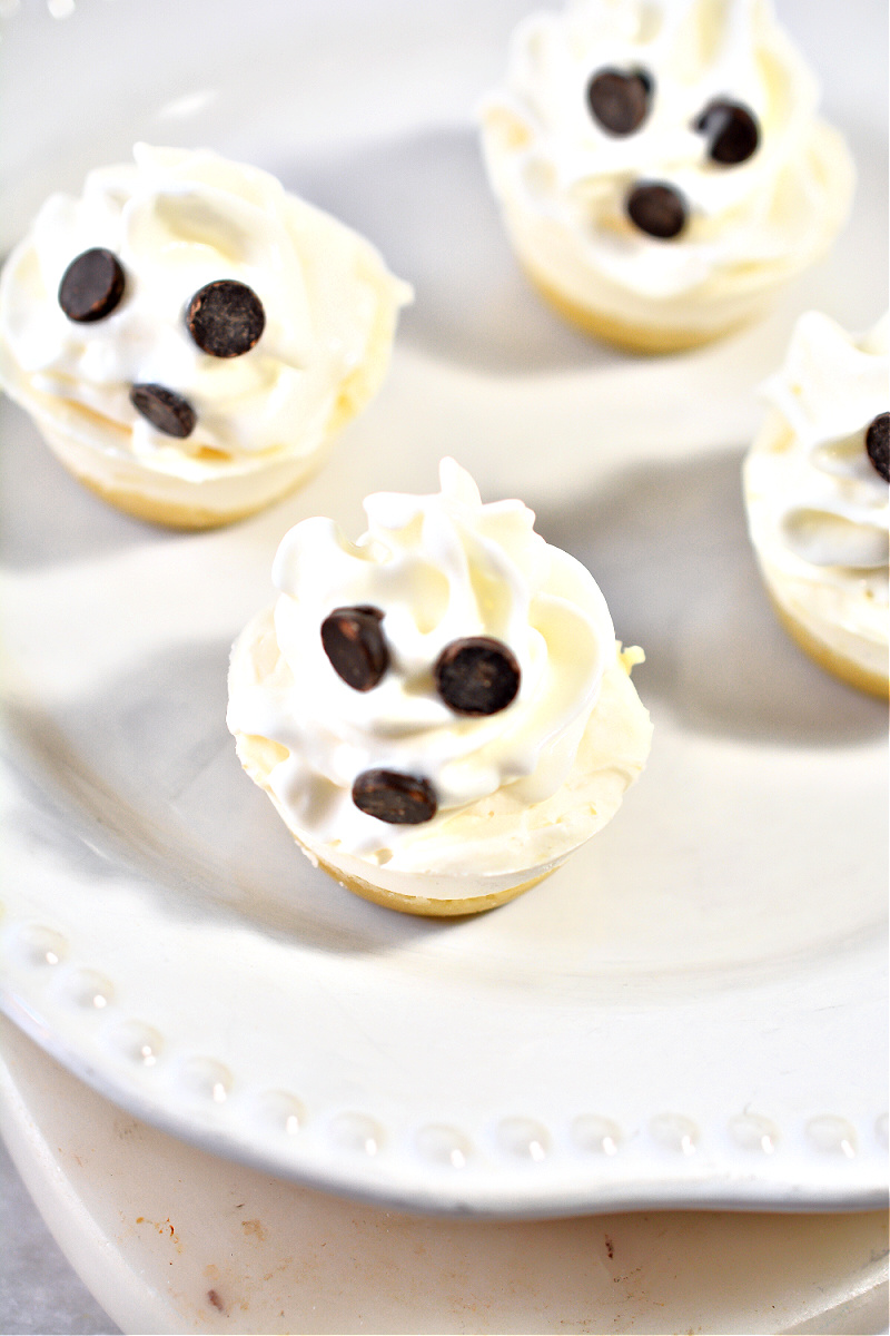Keto Ghostly Cheesecake Bites