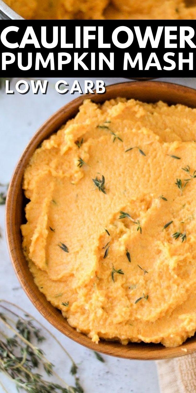 Low Carb Cauliflower And Pumpkin Mash