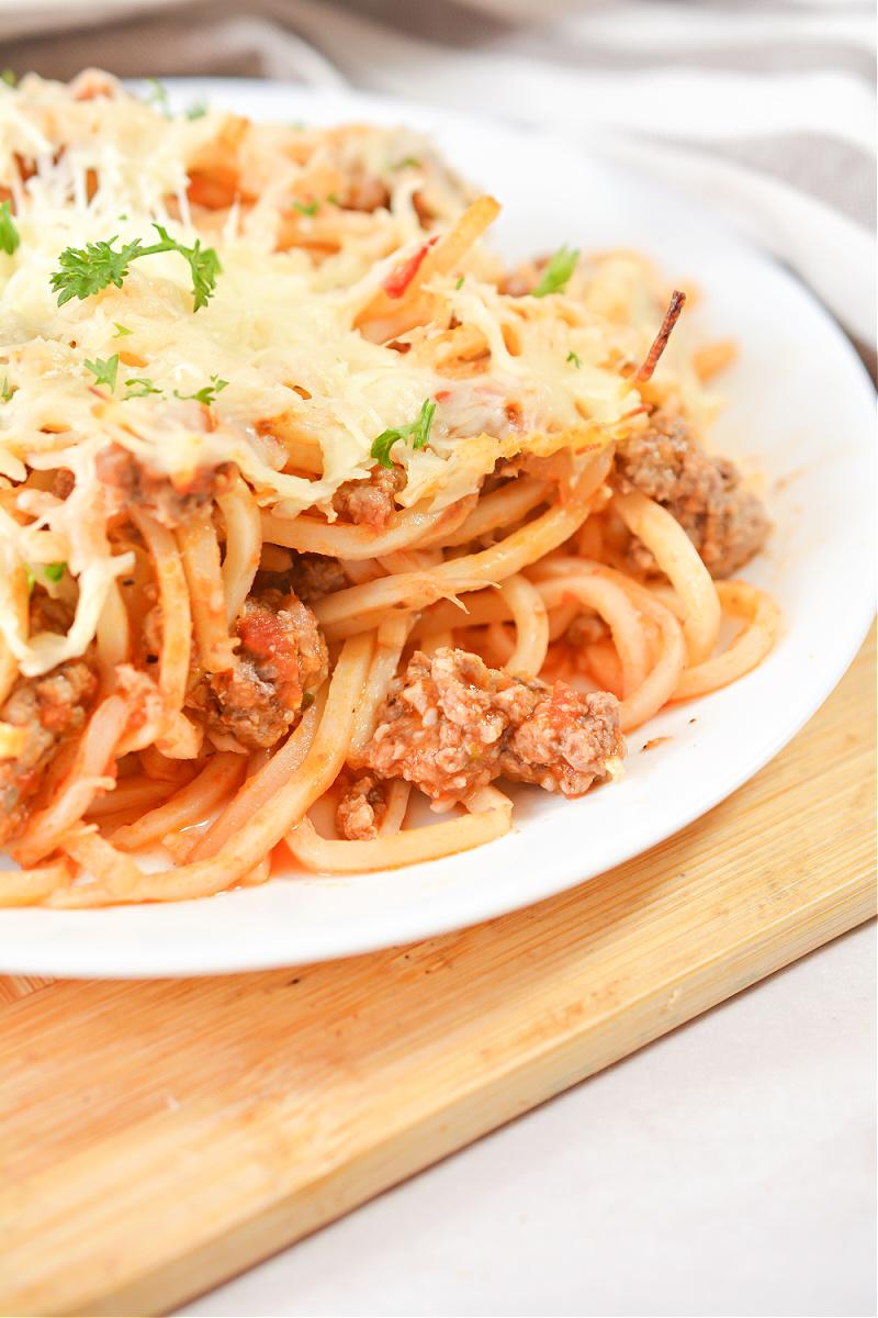 Keto Baked Spaghetti