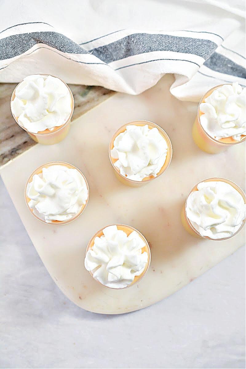 Candy Corn Keto Cheesecake Shooters