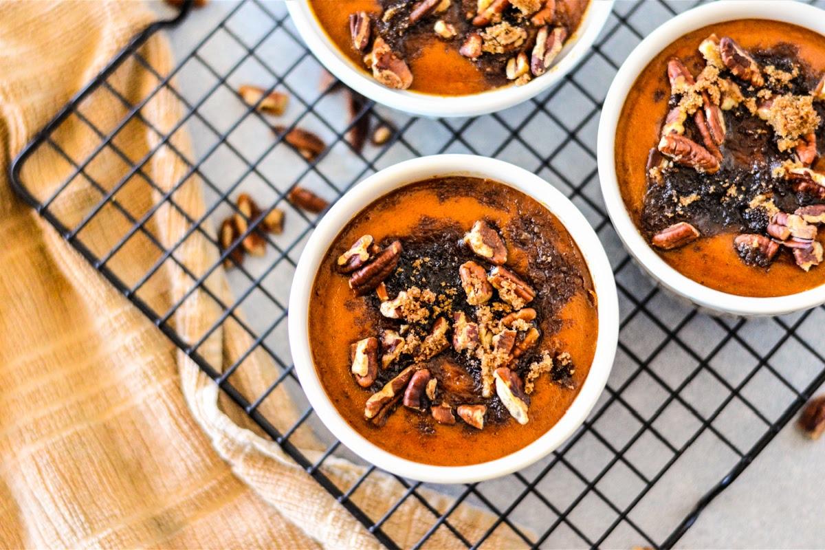 Low Carb Pumpkin Pecan Custard