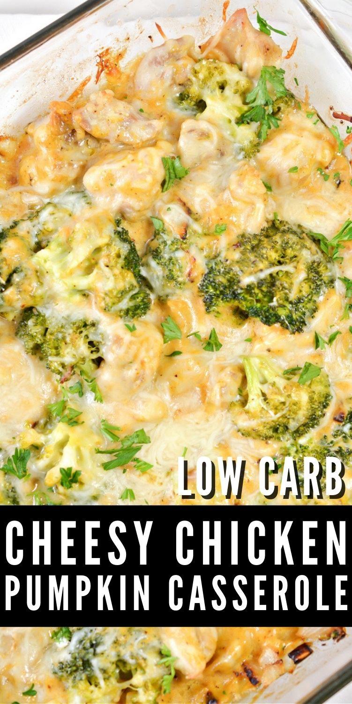 Cheesy Chicken Pumpkin Casserole