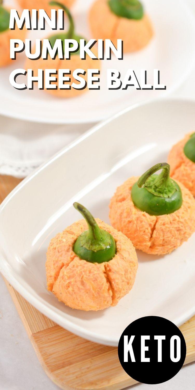Keto Mini Pumpkin Cheese Ball