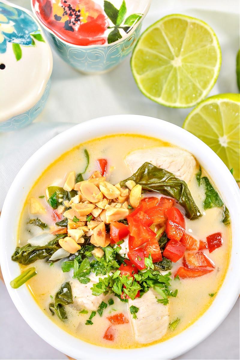 Creamy Keto Thai Chicken Soup