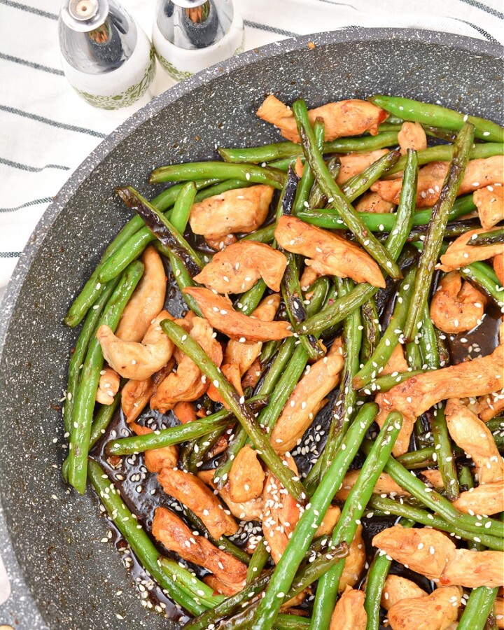 Keto Asian Green Beans and Chicken