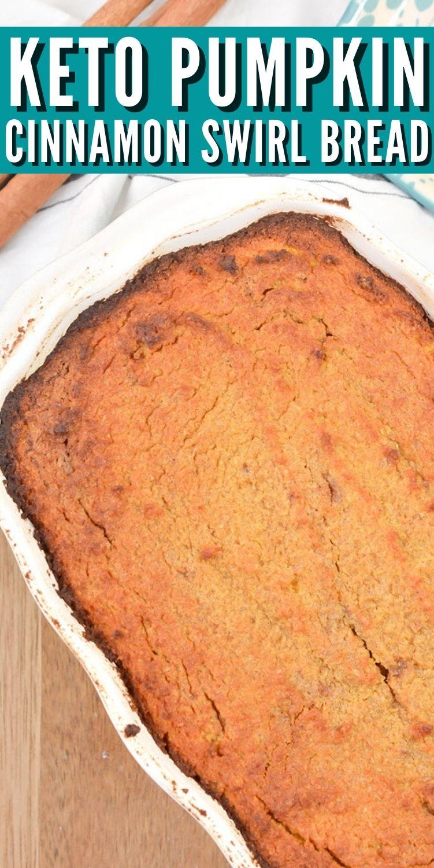 Keto Pumpkin Bread With Cinnamon Swirl